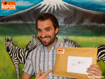 Johannes with one of the first shipped products in 2011